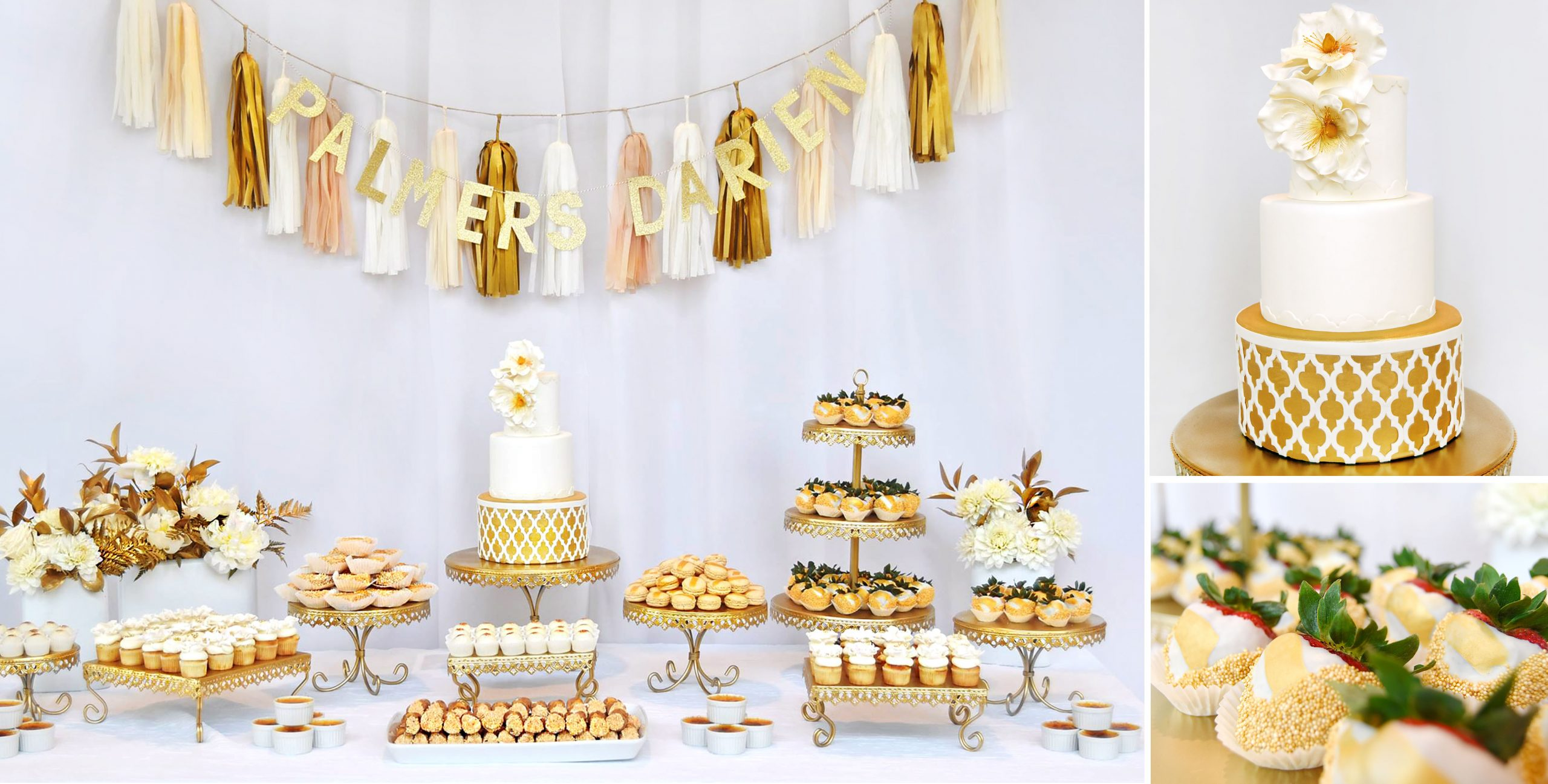 Palmer's Bakery - White and Gold Dessert Bar