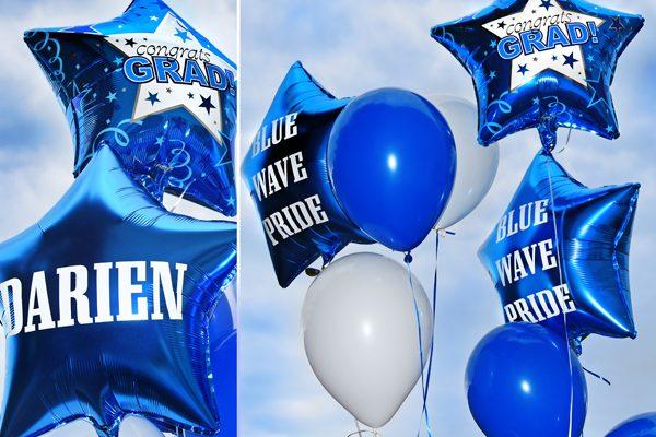 Blue Wave Balloon Bouquet