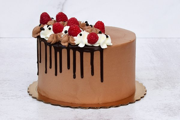 Chocolate Raspberry Fudge Cake