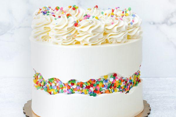 Black on White Cake