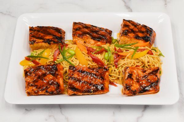 Yakiniku Grilled Salmon Platter