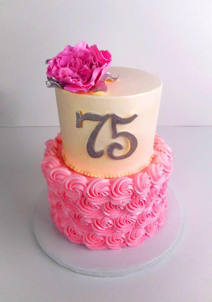 2-tier-pink-buttercream-and-sugar-flower