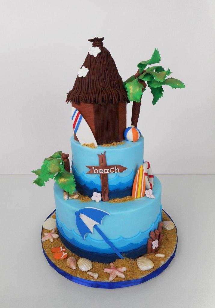 Beach-cake-with-tiki-hut