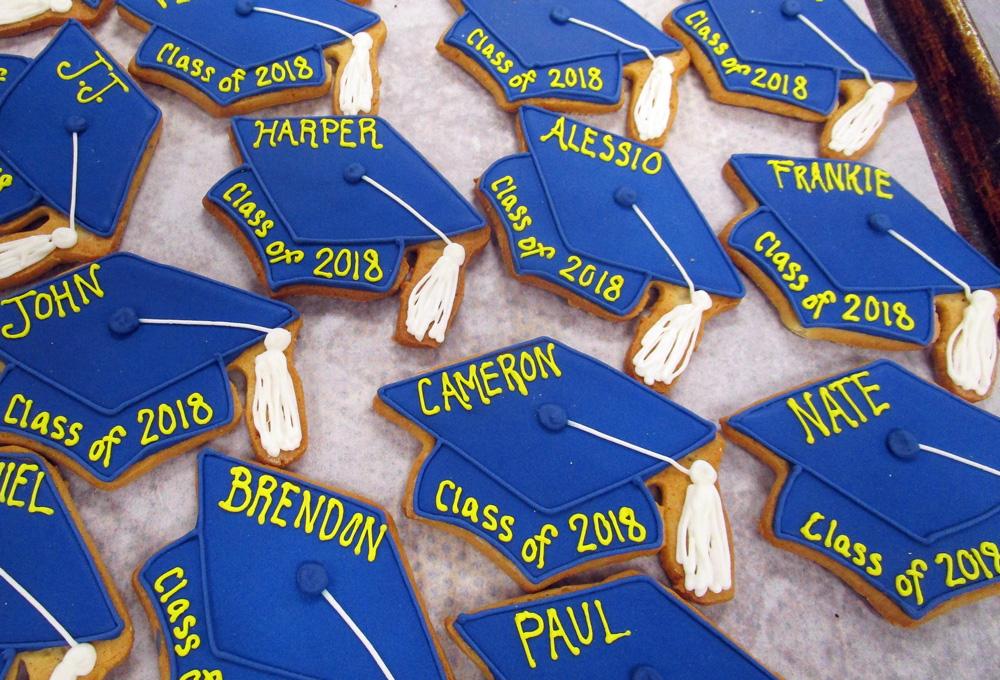 Blue-Grad-Caps-Class