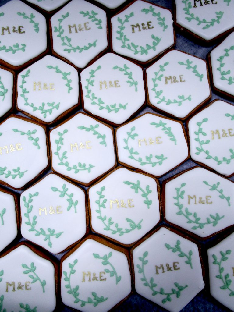 Initials-_-Greenery-Cookies