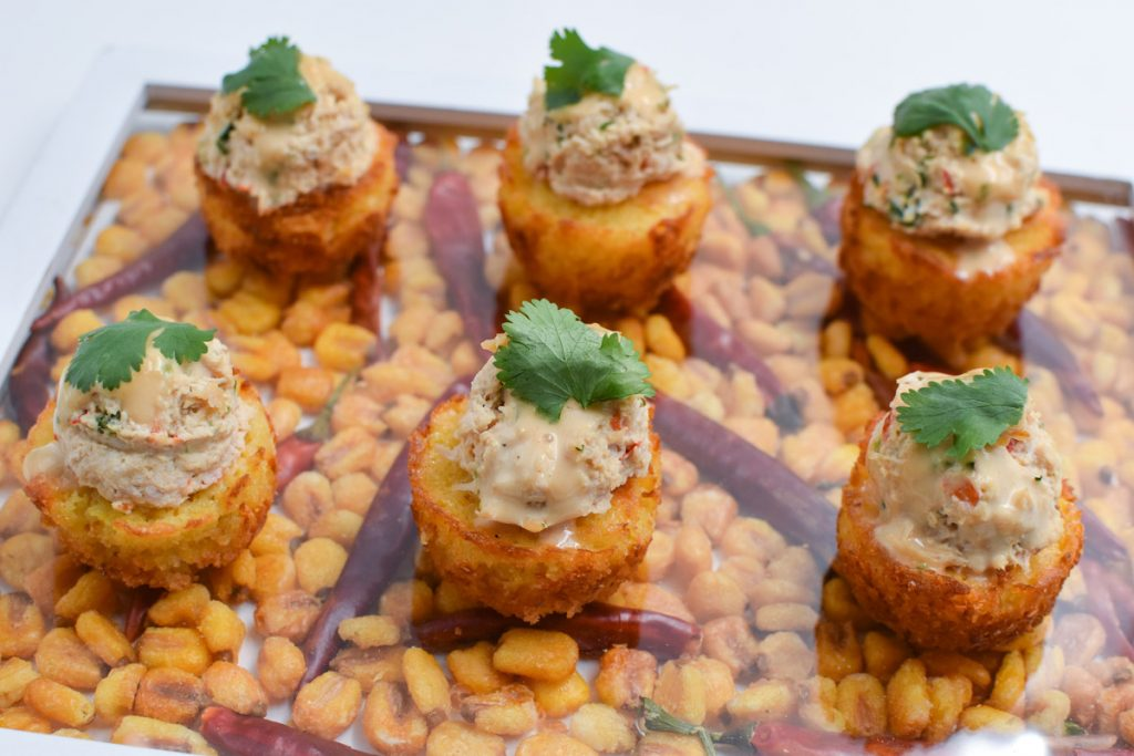 Chipotle Chicken Cornbread Cakes