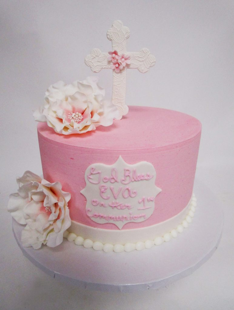 Standing-Crossm-Pink-Cake-with-Sugar-Flowers