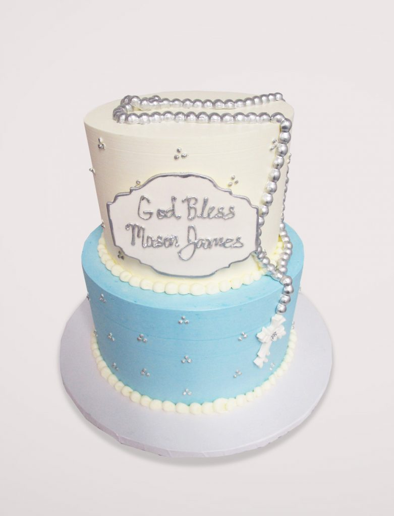White,-Blue-_-Silver-Rosary-Cake