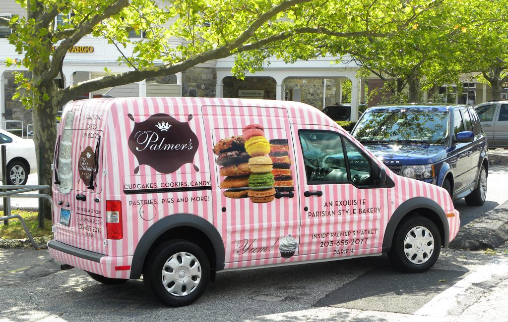 add-Palmers – Delivery Van – Bakery – Outside